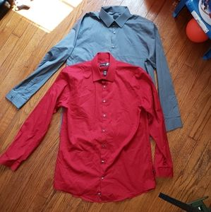 2- J. Ferrar Dress Shirts sz Large